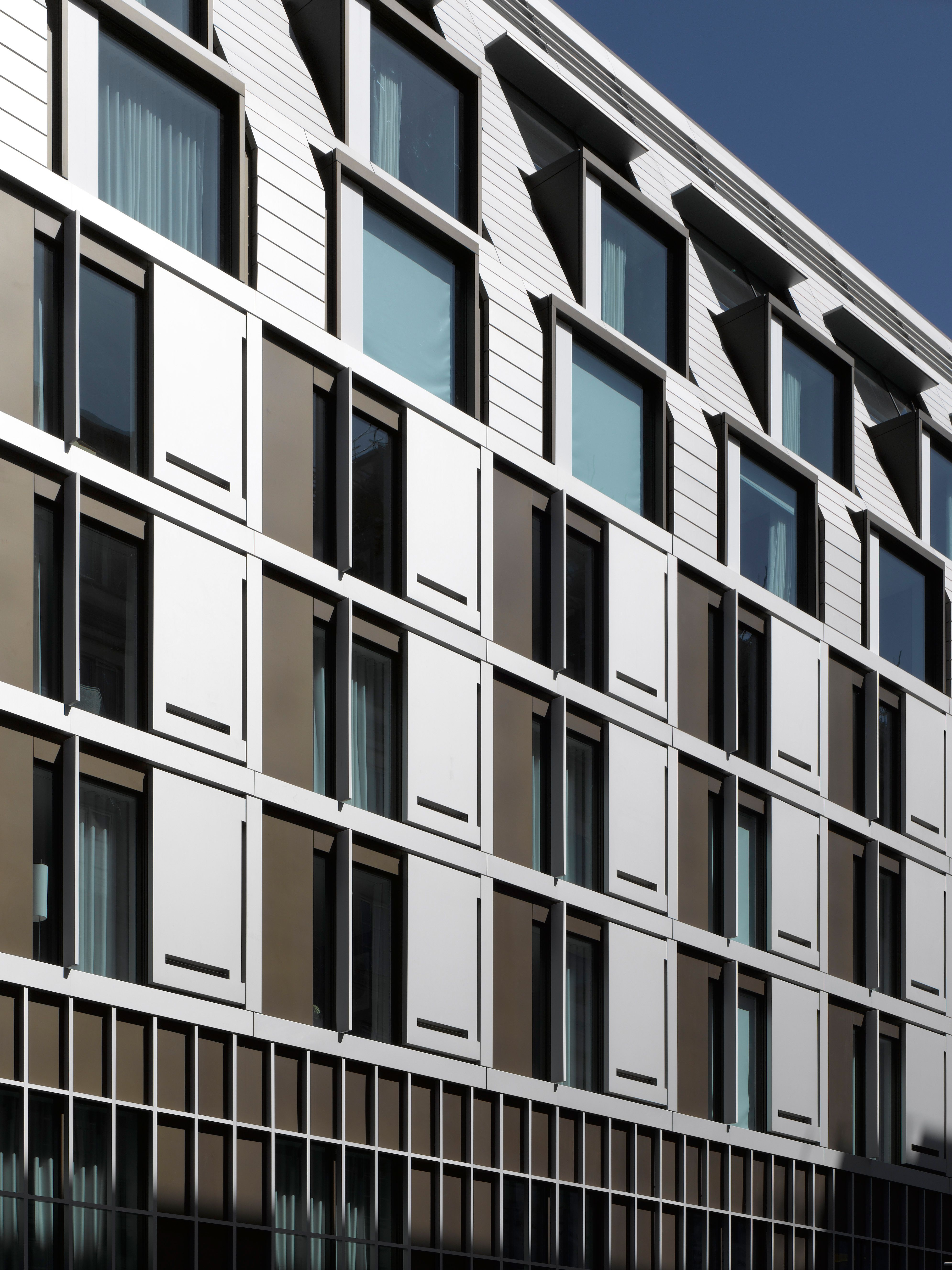 The Modern Exterior Of South Place Hotel A Tablet London
