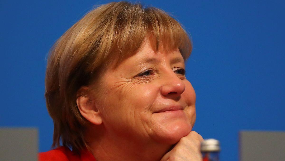 Kanzlerin im Gute-Laune-Modus: Merkel setzt vor Wahl auf Altbewährtes