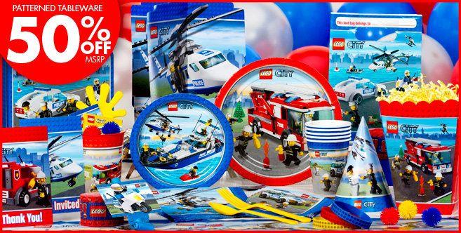 Lego City Birthday Party Supplies Canada