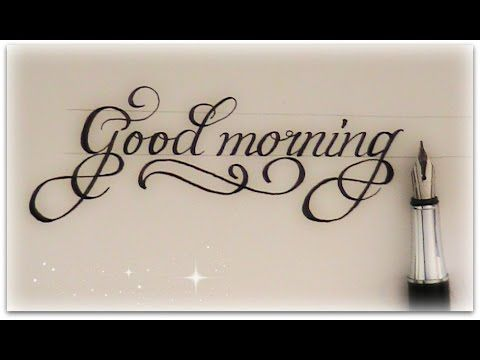 How To Write In Cursive Good Morning For Beginners
