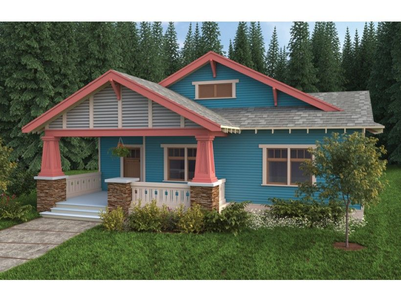 Eplans craftsman house plan bungalow craftsman single for Eplans craftsman bungalow 11192