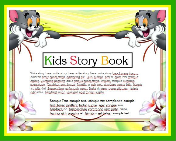 Kids Story Writing Book Template | Word Business Templates ...
