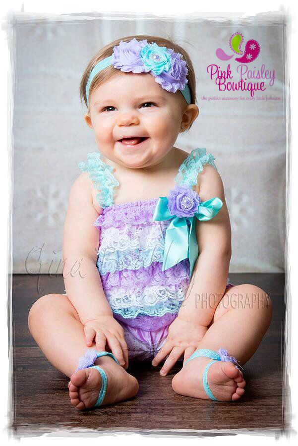 Cake Smash Outfit - Aqua   Lavender Petti Romper - Baby Girl Rompers  -Ruffle Rompers - 1st Birthday Outfit - Baby Girl Birthday Dress  d06792b76a0e