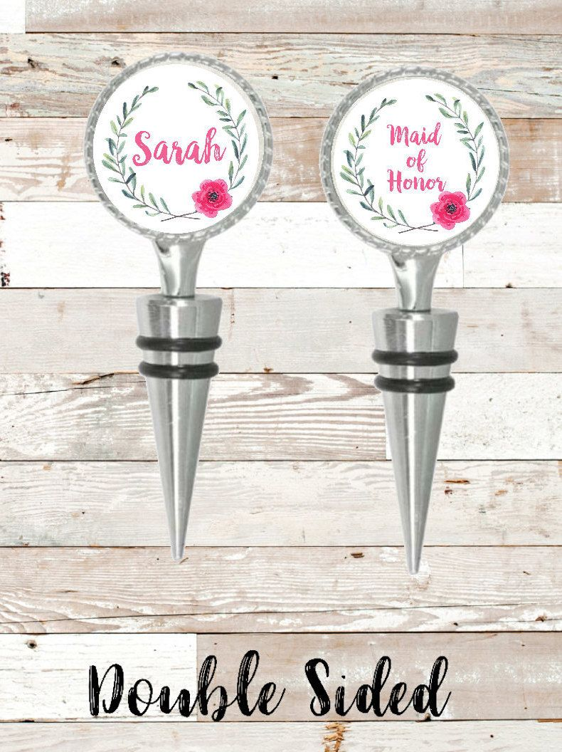 Maid of Honor Gift, Wine Stopper, Wedding Gift, Mom and Dad Gift ...