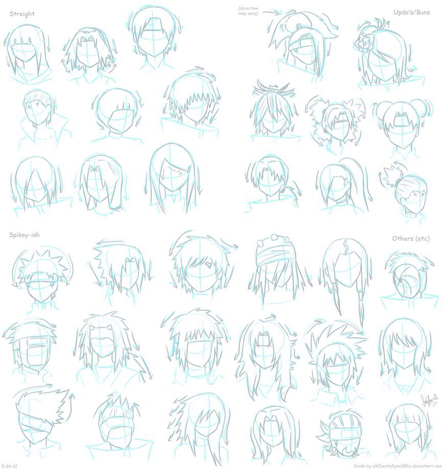Anime Characters Hairstyles : Naruto character hair style anime drawing tips and
