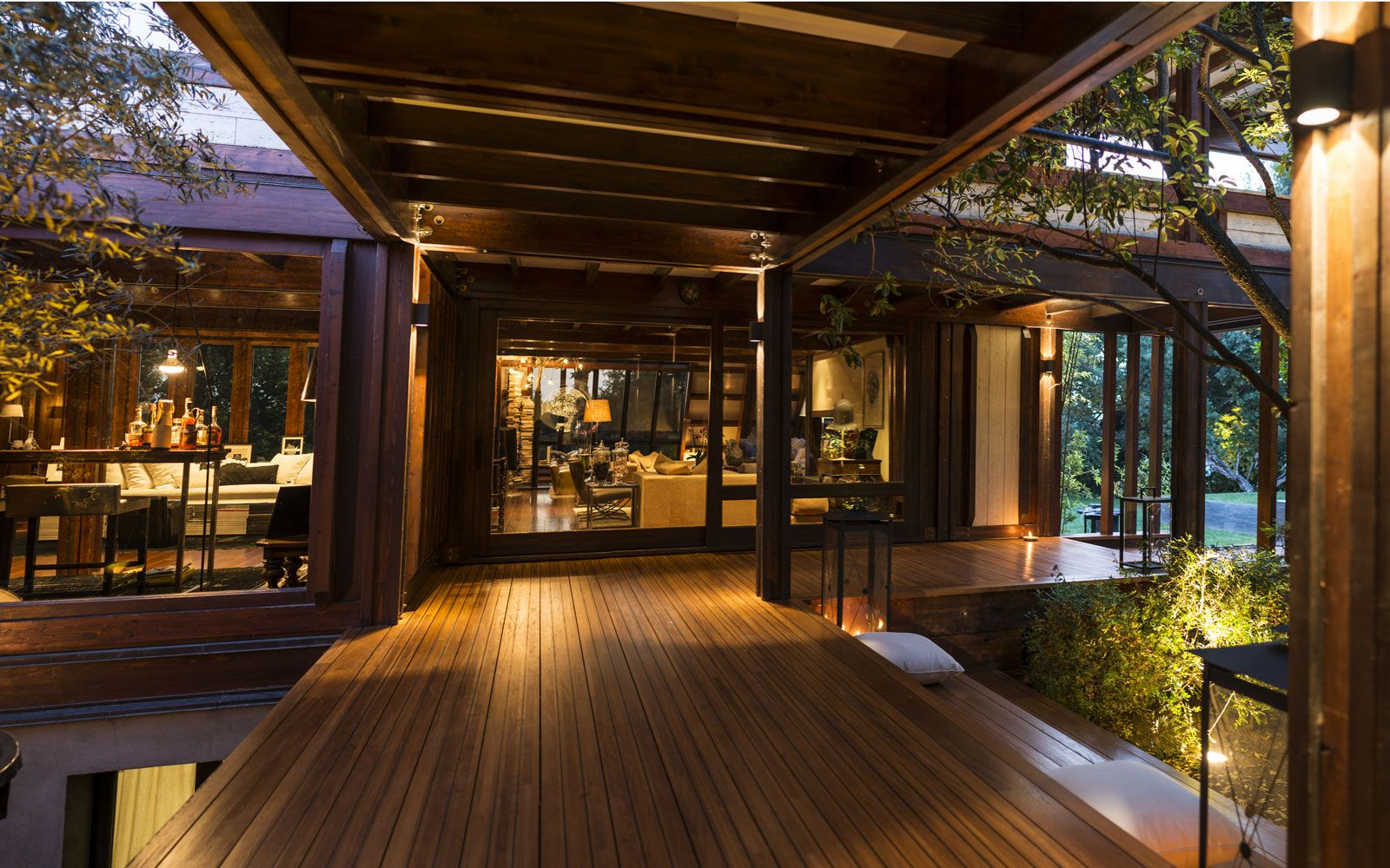 Pagano system case in legno lusso e tradizione case in for Interni di case in legno contemporanee