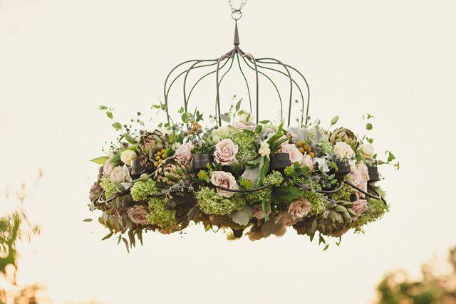 Floral chandelier pinterest floral chandelier floral chandelier aloadofball Image collections