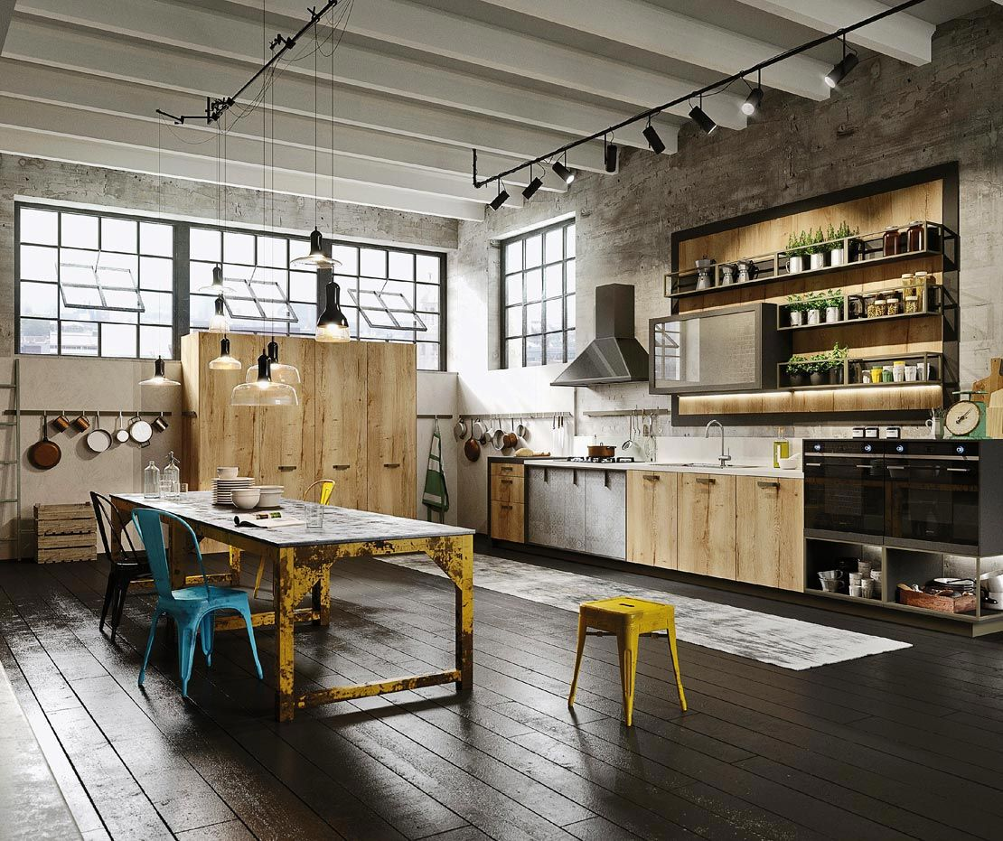 Cucine industrial style: Loft di Snaidero | Industrial style, Lofts ...