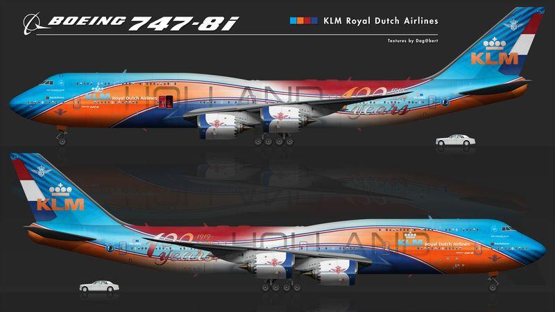 Boeing 747 8i Klm 100 Years By Dagohbert On Deviantart With