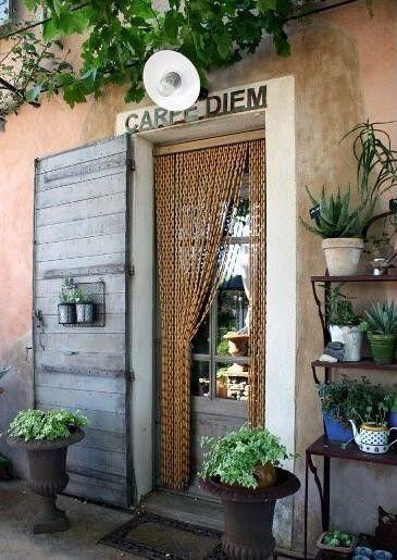 rideaux buis en perles naturelles. rideau de porte en buis naturel ...