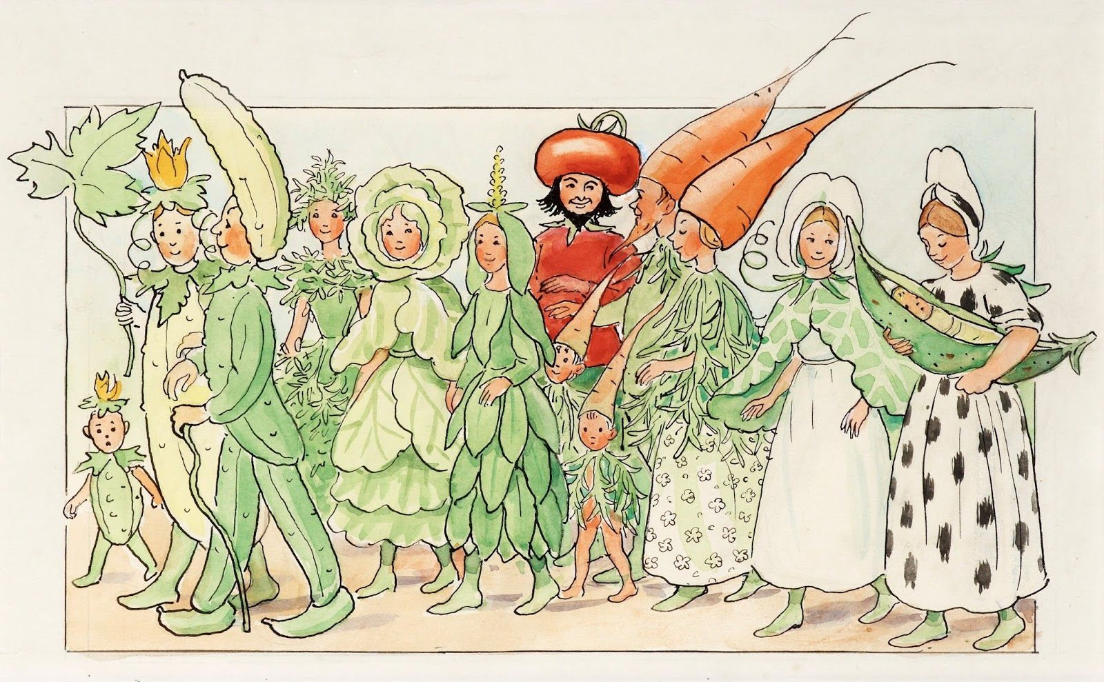 elsa beskow flower fairies | Miss Cornflower and her Friends on their Way to the