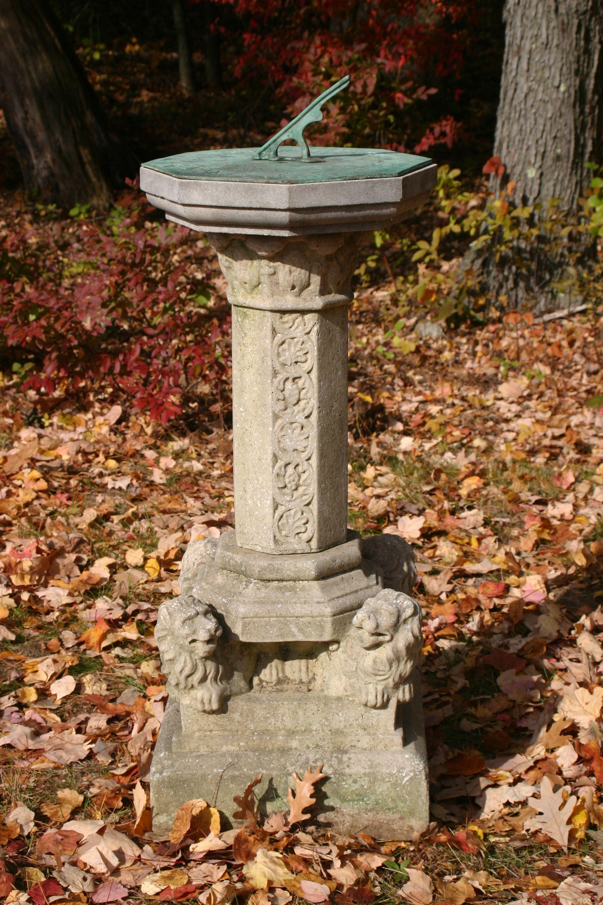 stone sundial with bronze face | Garden Sundials | Pinterest ...