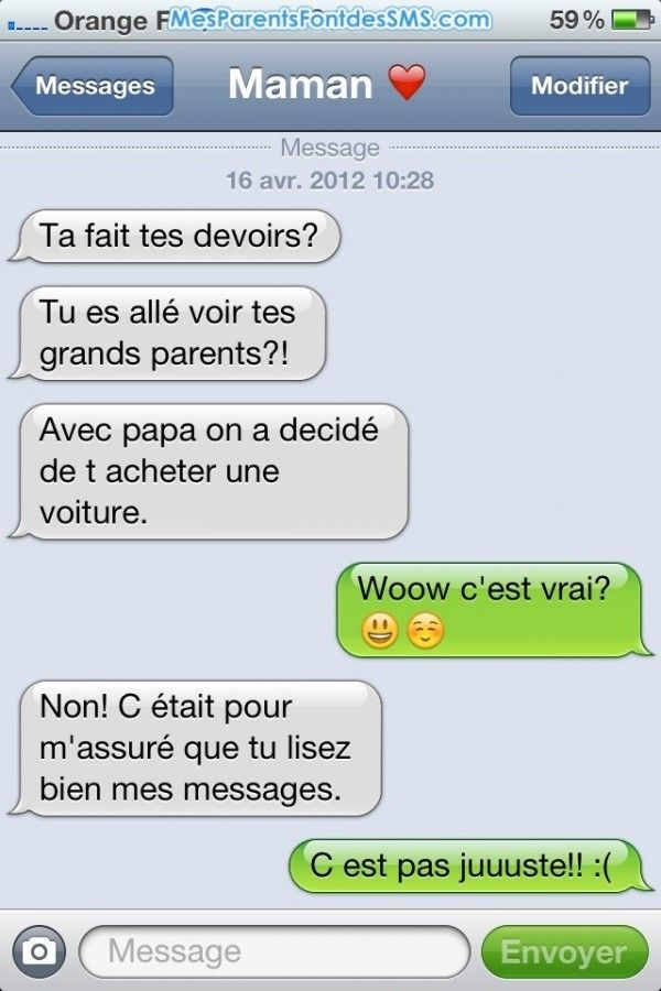 Top 49 Textos Et Sms Genants Des Parents Words Messages Jokes