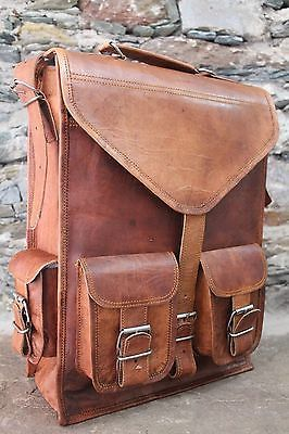 Vintage Real genuine leather Men/'s Backpack Bag laptop Satchel briefcase Brown