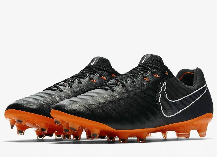 low priced eaec2 70b8a  football  soccer  futbol  nikefootball Nike Tiempo Legend VII Elite FG  Fast AF - Black   Black   White   Total Orange
