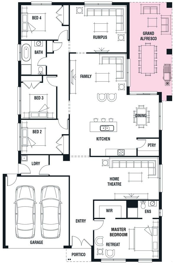 Porter Davis Homes House Design Kew Floor Plans Craftsman Floor Plans House Design