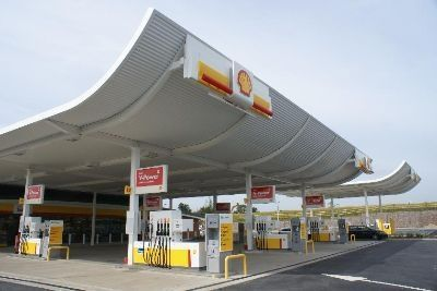 A slightly different petrol station with a lip on the canopy at the front. Located in Leicester & different petrol stations - Google Search | Petrol stations ...