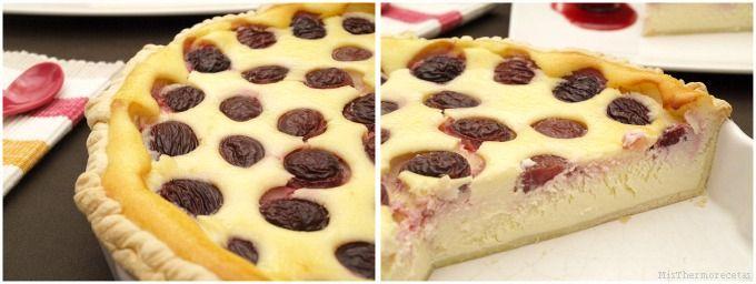 Tarta de queso con cerezas - MisThermorecetas