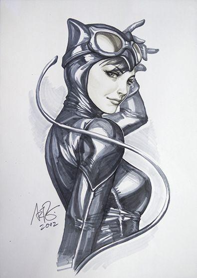 Dc fan arts 15 dessin h ros et h ro nes - Dessin catwoman ...