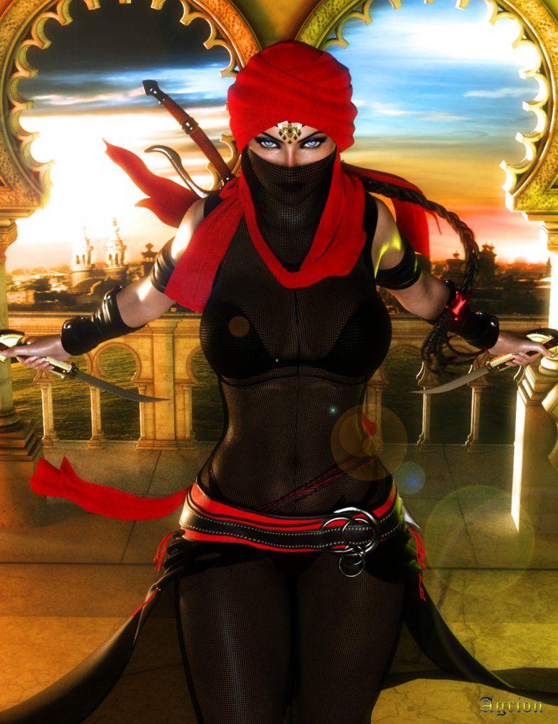 Assassin comics girls female protagonist beauty in art