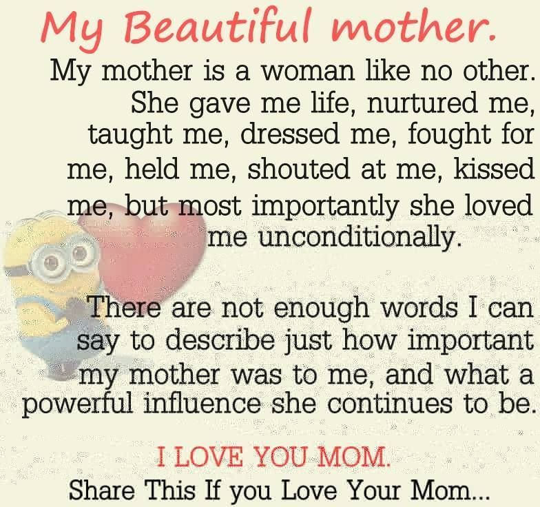 My Beautiful Mother With Images Beautiful Mother Quotes