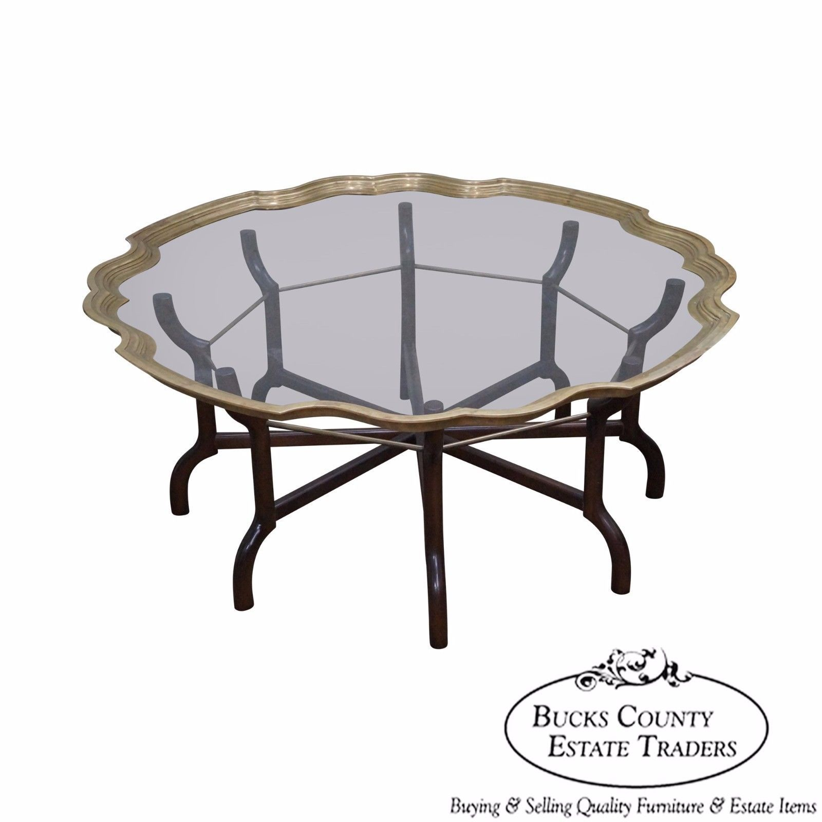 Brass Glass Tray Top Coffee Table By Baker Coffee Table Brass Coffee Table Baker Furniture [ 1600 x 1600 Pixel ]