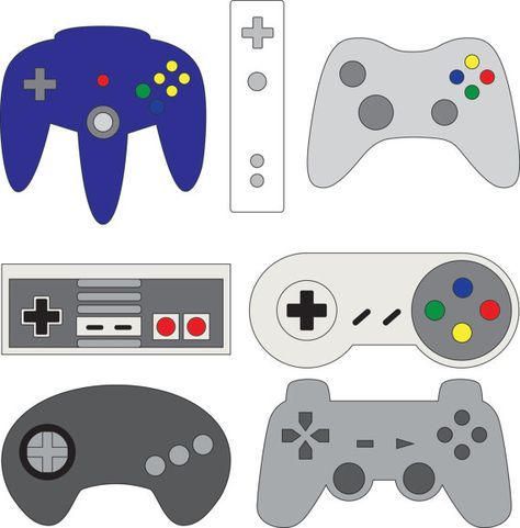Controllers Nintendo Xbox Playstation Sega Wii Svg By Hatchwork Video Games Birthday Party Birthday Card Template Video Games Birthday