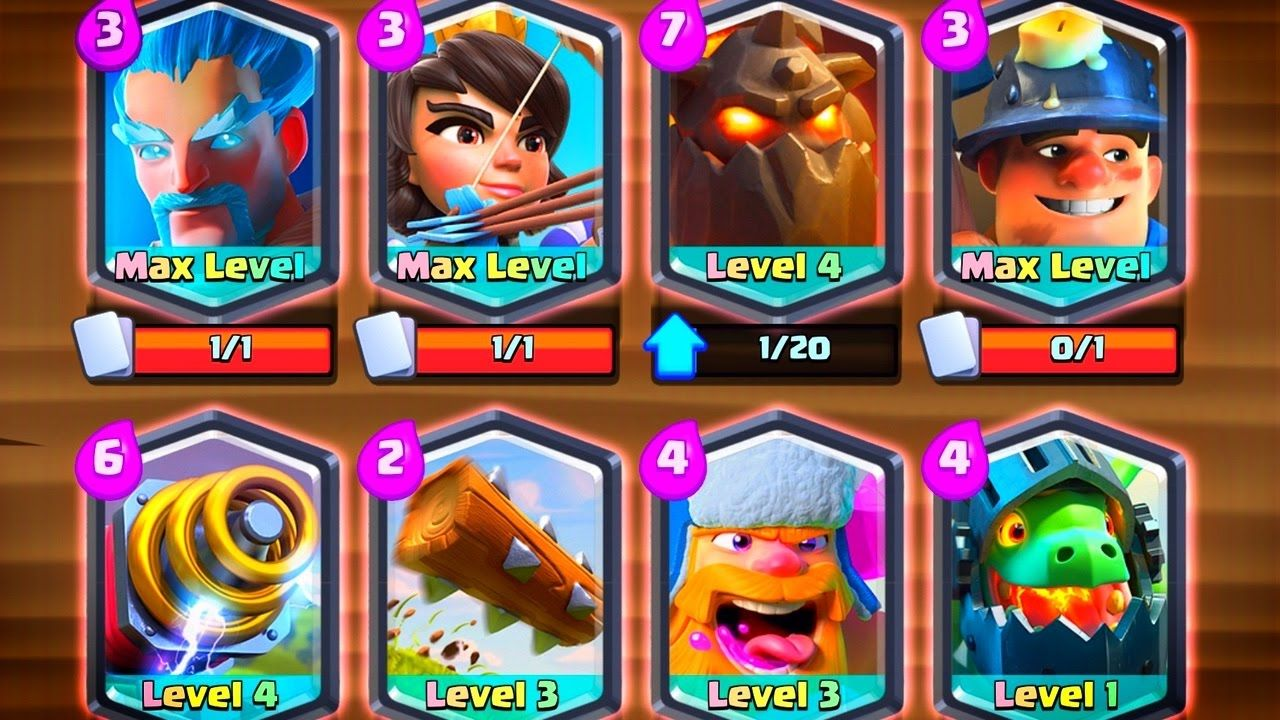 All 8 Legendary Card Deck Clash Royale Clash Royale Deck