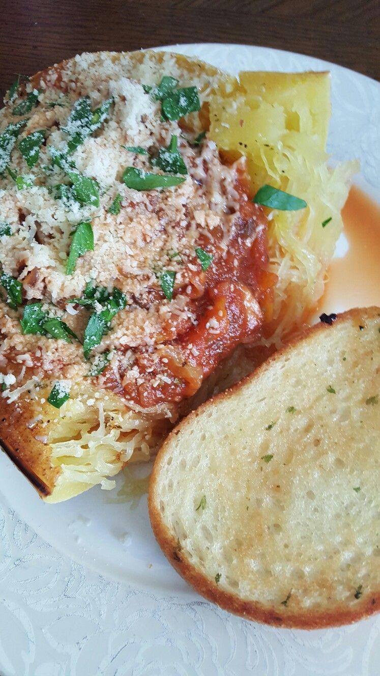 recipe: spaghetti squash with spicy marinara [25]