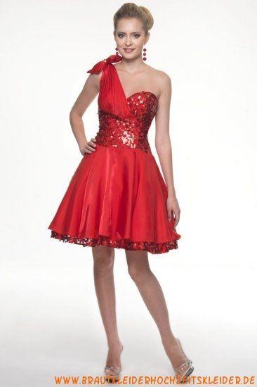 Modisches Abendkleid rot mit Pailletten A-Linie online ...