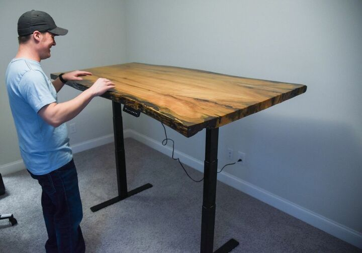 How to Build Live Edge Stand Up Desk DIY