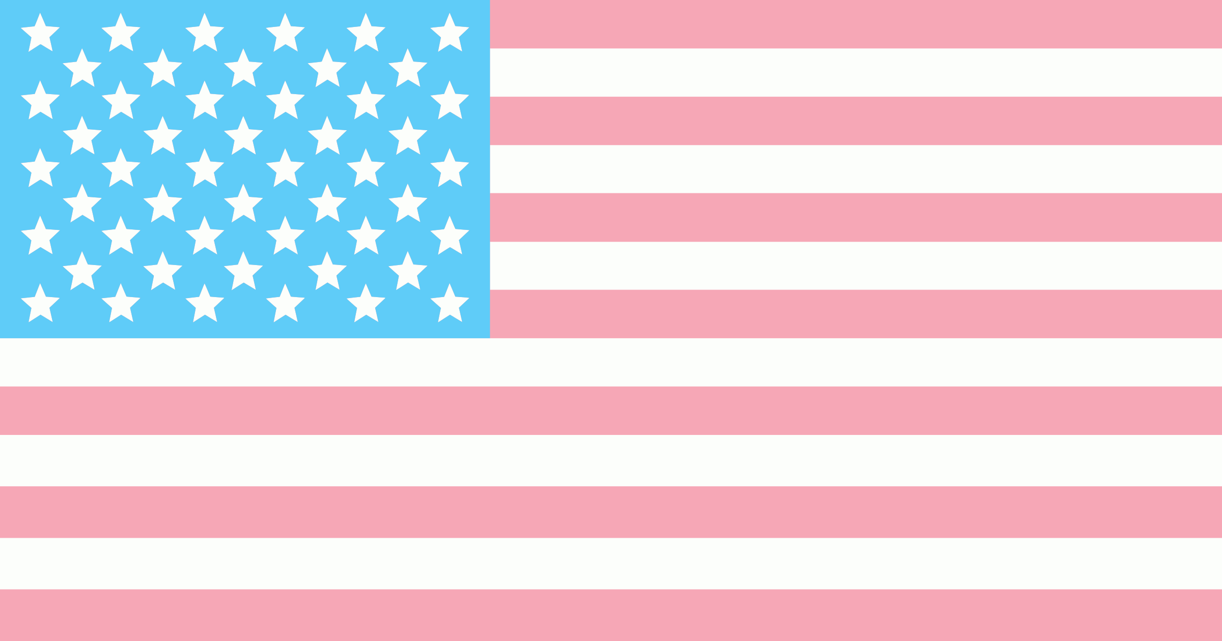 Trans American Flag By Phidari American Flag With Trans Pride Colors On Openclipart Trans Flag American Flag Flag