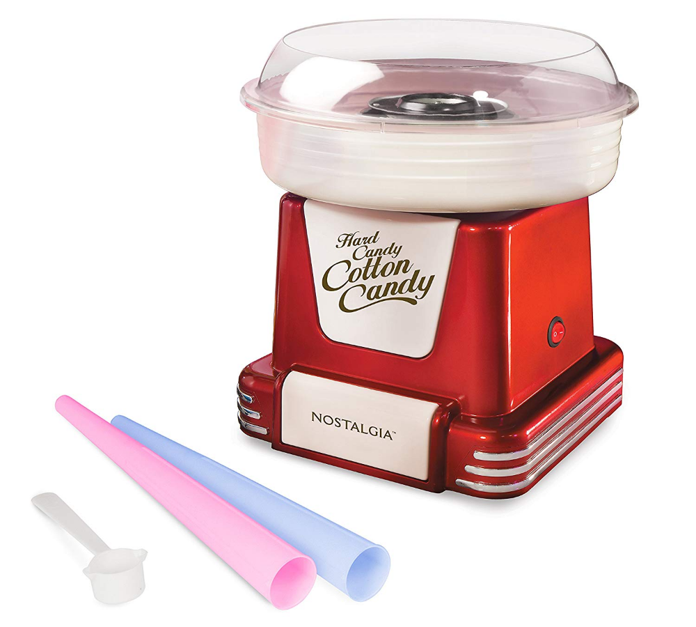 Amazon Com Nostalgia Pcm805retrored Retro Hard Sugar Free Cotton Candy Maker Red Kitchen Small Appliances Cotton Candy Cone Sugar Free Candy Retro Candy