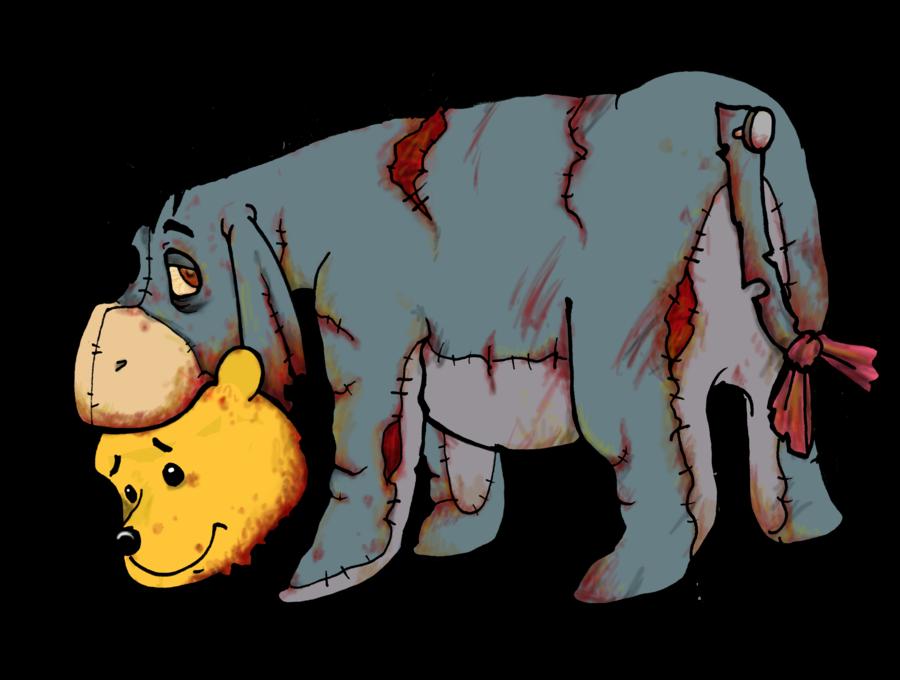 Zombie Disney Characters Drawings Sad Eeyore | More from...