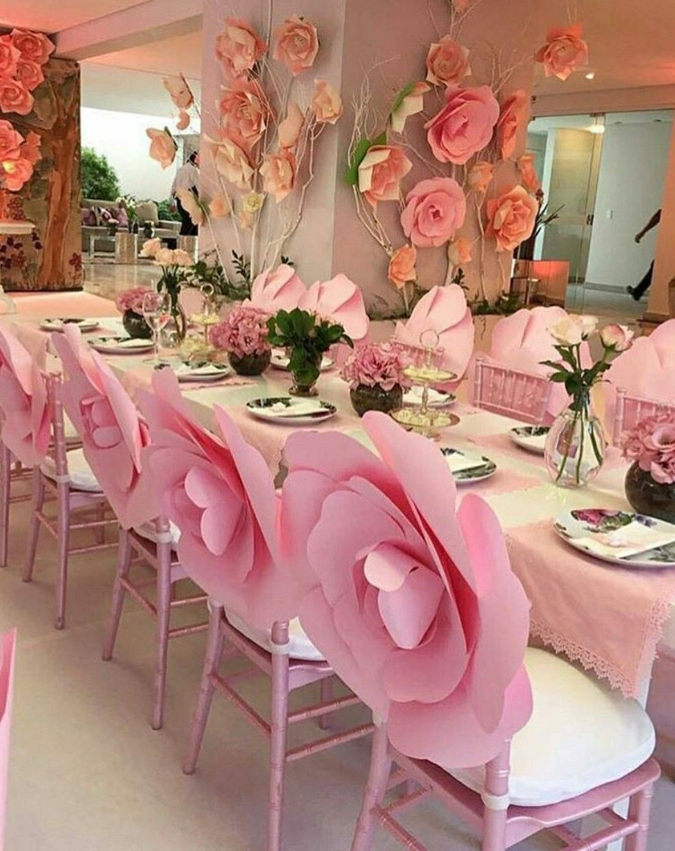 Wow The Chair Decoration Ideas Paper Flowers Flowers Party