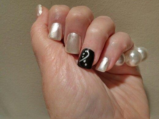Lung Cancer Awareness Nails Thank You Sam At Tip N Toes White Nail