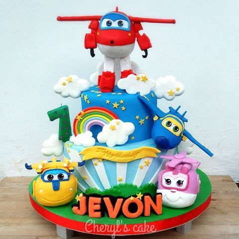 Super wings cake | cakes in 2019 | Airplane birthday cakes, Cake ...