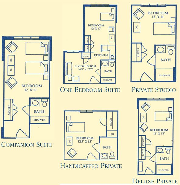 Assisted living facility dementia friendly floor plan for Retirement home plans