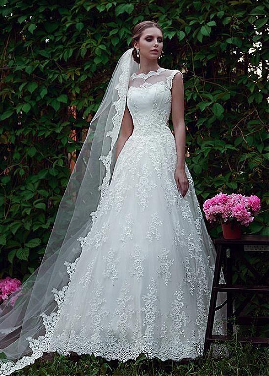 Buy discount Gorgeous Tulle Bateau Neckline A-line Wedding Dresses ...