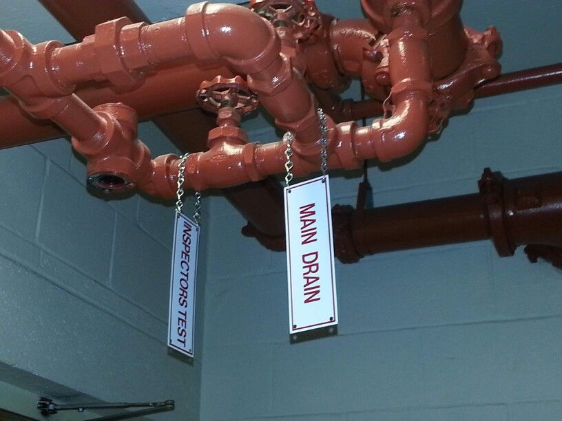 Fire sprinkler system components with signs! Find them