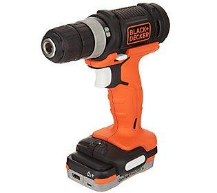 Black Decker 12v Cordless Drill With Gopak Battery Qvc Com Drill Cordless Drill Reviews Cordless Drill