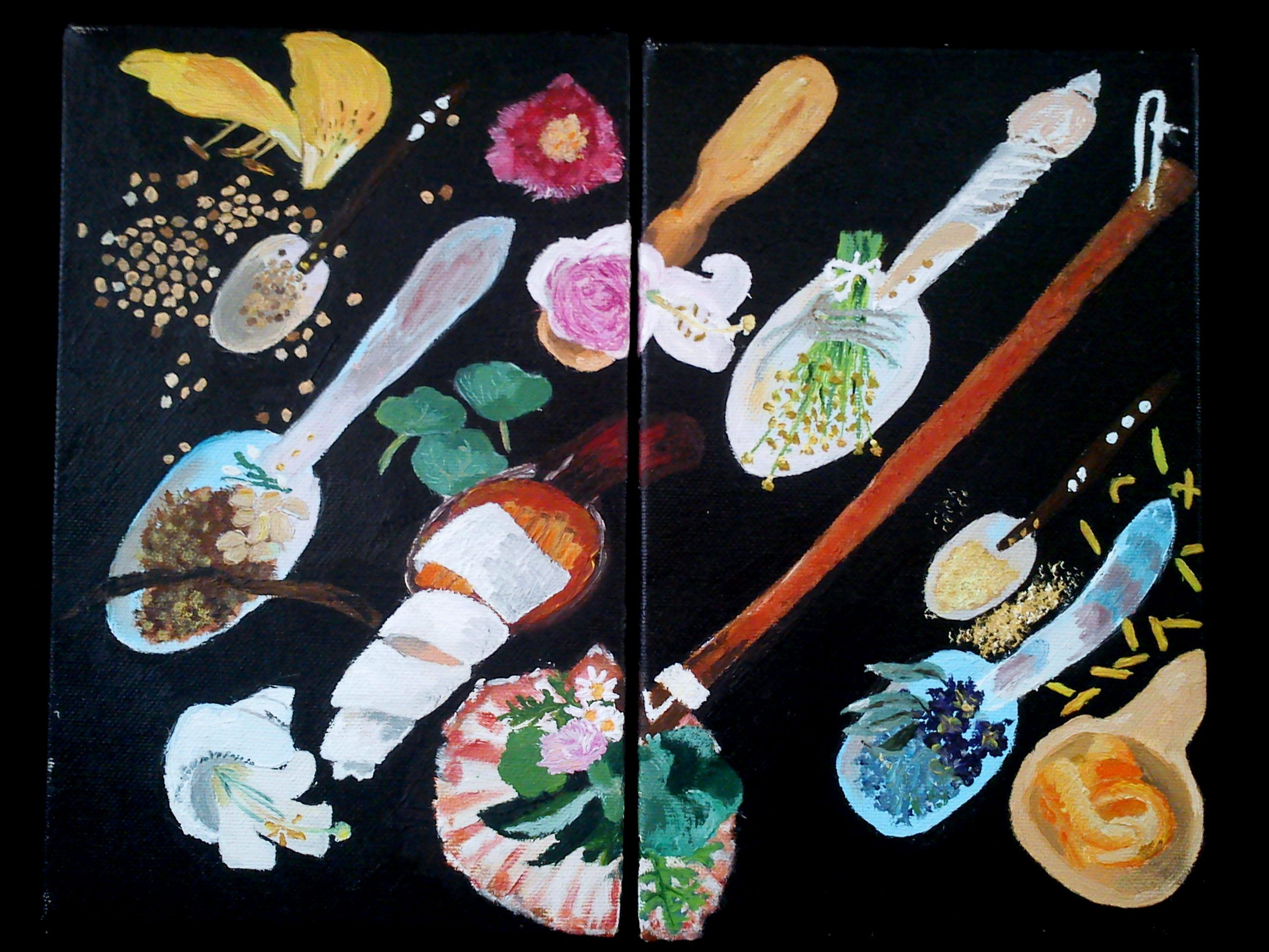 Especias/spice Pintura al oleo/ oil painting