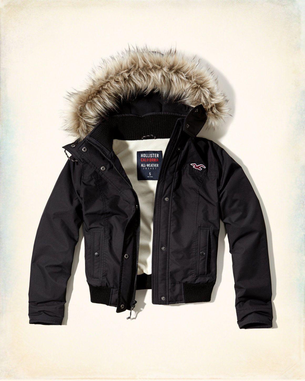 hollister bomber jacket