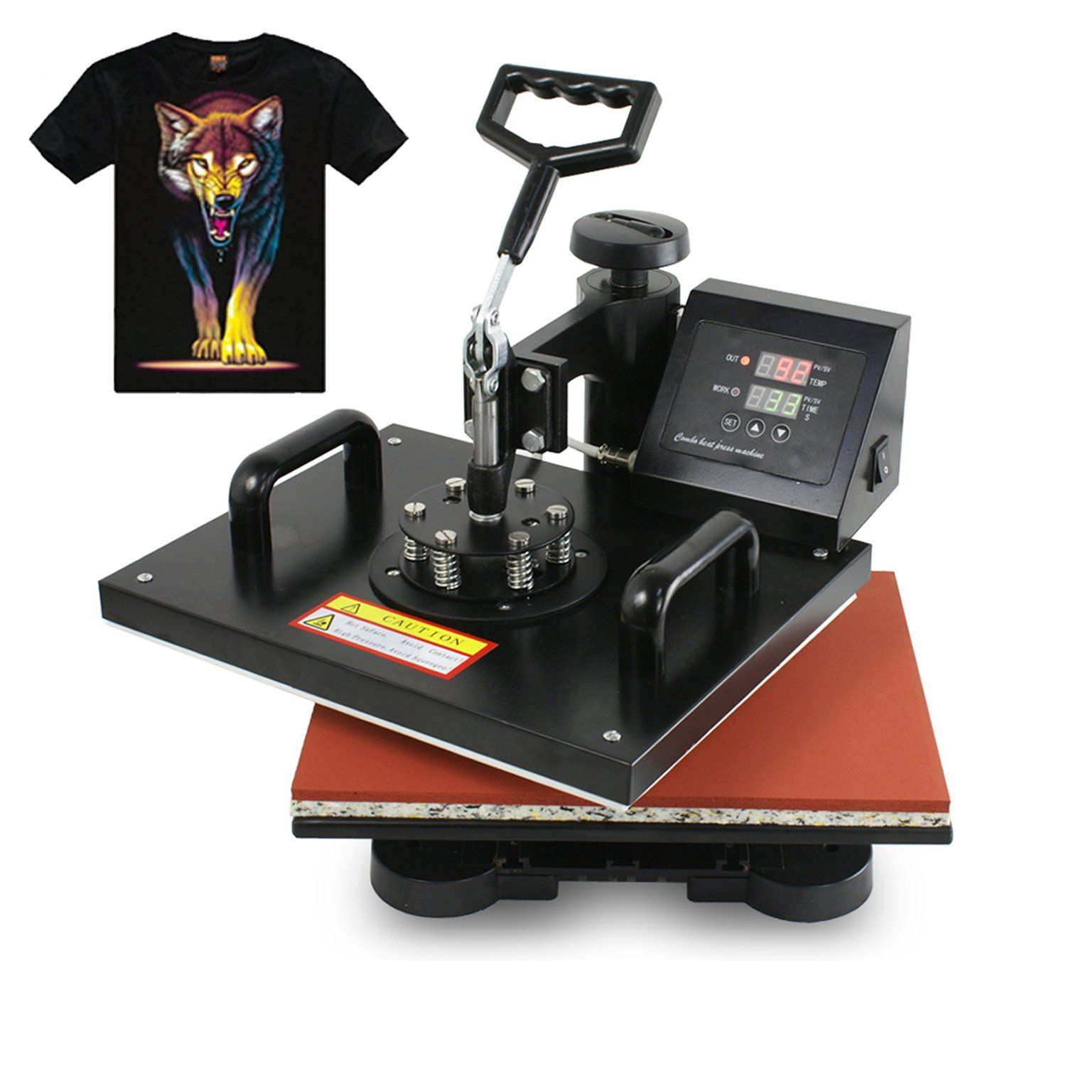 a68e3076 F2C Pro 5 in 1 Digital Transfer Sublimation Heat Press Machine Hat/Mug/Plate /Cap/T-shirt Multifunction New Black(5 in 1)