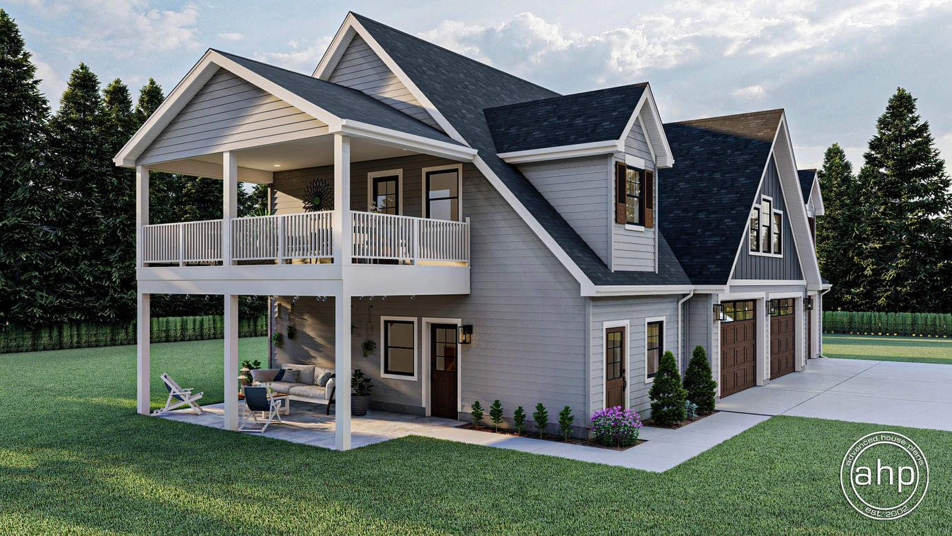 Traditional Style Carriage House Plan Burwell In 2020 Carriage House Plans House Plans Carriage House