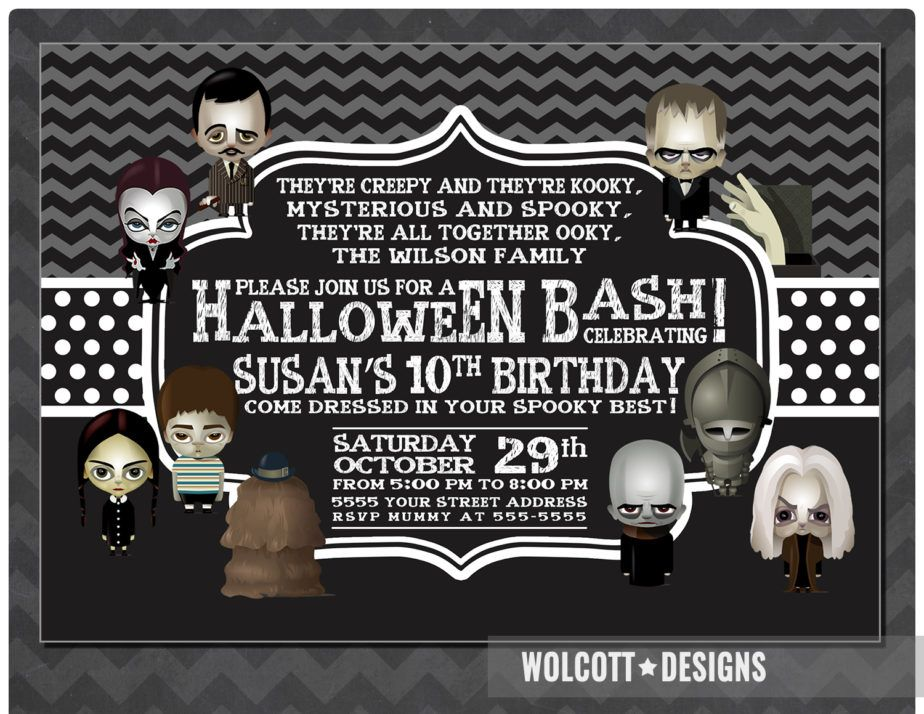 Halloween Birthday Invitation | Halloween birthday invitations ...
