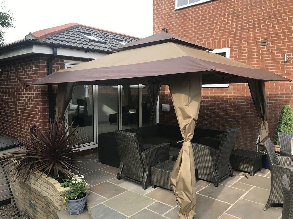 garden metal gazebo canopy drapes shelter tent patio party wedding