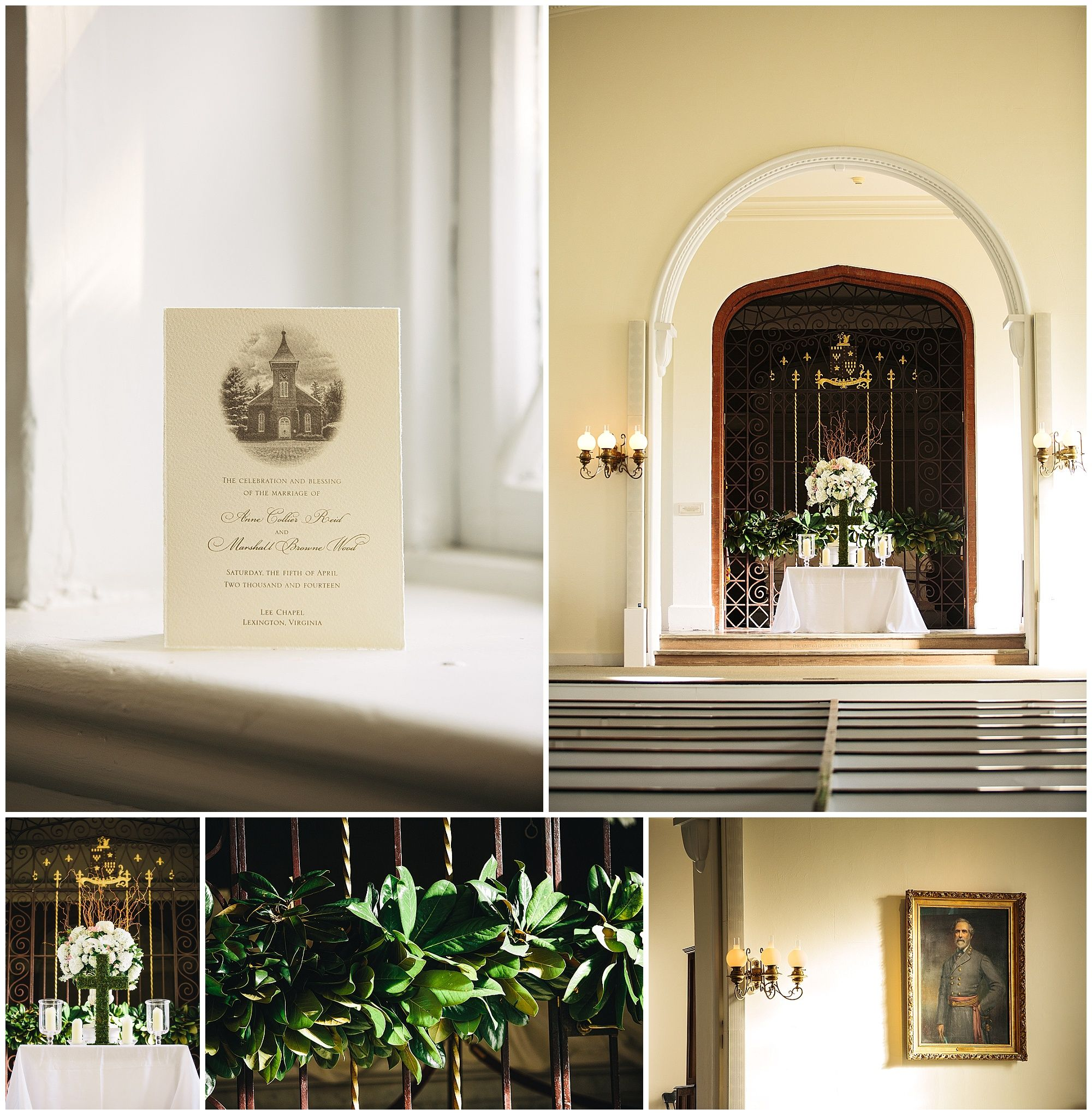 Southern Wedding Decoration Ideas: Southern Wedding Historic Chapel Decoration. Lee Chapel
