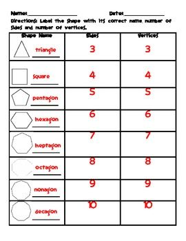 Identifying Polygons Worksheet Identifying Polygons 1st Grade