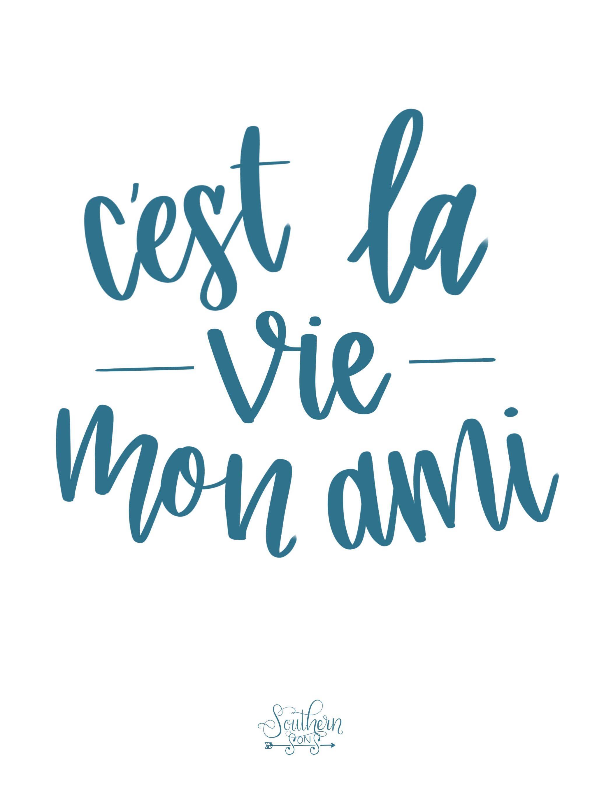 Handlettered Quote Cest La Vie Handlettering Quotes Lettering